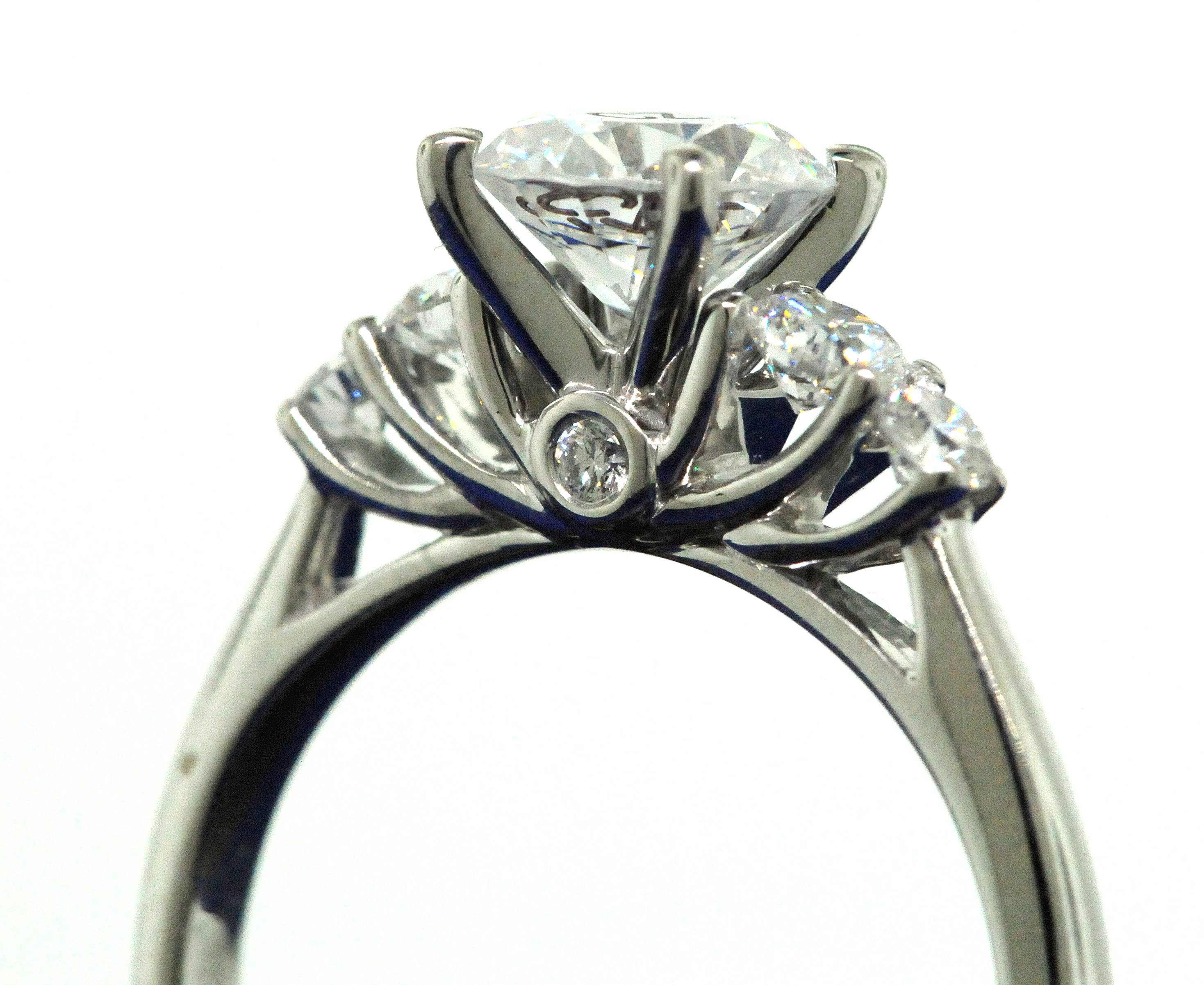your jewelers own wedding floral engagement beckers rings ring design angle tool scott e kay